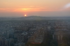 Sun Setting Over Paris