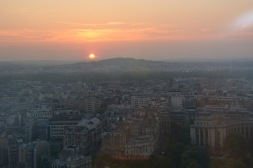 Sun Setting Over Paris