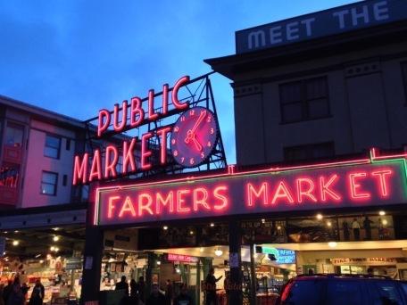 Seattle Market at Sunset